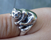 Maine coone silver cat ring